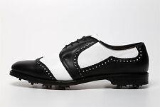 Allen Edmonds Men's Black White Spiked Shoes 6131 Size 10B