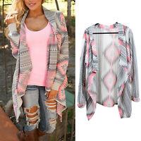 Women's Cardigan Knitted Sweater Shawl Coat Jacket Outwear Jumper Long Sleeve