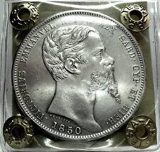 SARDEGNA (Vittorio Emanuele II) da 5 Lire-1850 Genova
