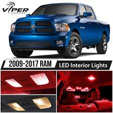 2009-2017 Dodge RAM 1500 2500 3500 Red LED Interior Lights Package Kit