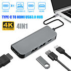 4in1+Multiport+4K+USB-C+to+HDMI+USB+3.0+HUB+Adapter+Dock+5Gbps+for+Tablet+Laptop
