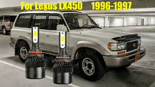 LED For Lexus LX450 1996-1997 Headlight Kit 9006 HB4 White CREE Bulbs Low Beam