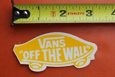 Vans Shoes Off The Wall Yellow Dogtown Skateboards Vintage Skateboarding Sticker