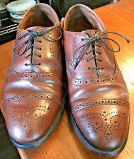 Vintage Hanover Style Men's Shoes Captoe Chili Brown Brogue Size 8 EEE