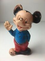 1965 VINTAGE MICKEY MOUSE SQUEAKY TOY 6.5 INCHES TALL 55 YEARS OLD STILL SQUEAKS