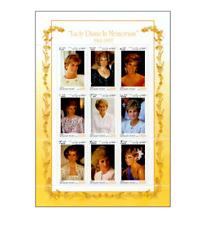 AFG9802 Princess Diana 9 items sheet