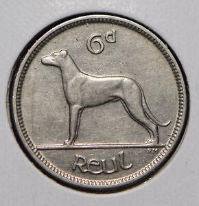 Ireland 1934 6 Pence Wolfhound animal  291708 combine shipping