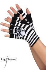 Leg Avenue fingerlose Handschuhe Skull´n Bones schwarz/violett