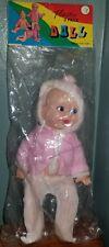 """Vtg Plastic 3 Face Doll Hong Kong 3 Facial Expressions Nos 8 1/2"""""""