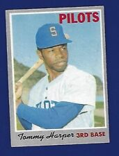 1970 TOPPS TOMMY HARPER BASEBALL CARD #370  NR MINT FREE SHIPPING