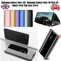 Smart View Mirror Flip Stand Case Cover For Samsung Galaxy Note 20 Ultra 5G