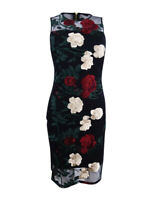 Calvin Klein Women's Embroidered Mesh Dress