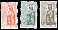 Liechtenstein #284-286 MNH CV$37.50 1954 MADONNA IN WOOD SET