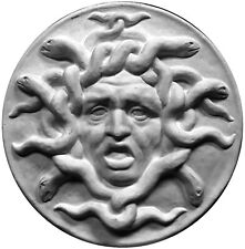 Medusa White Sculpture Statue Art Home Decor Figurine Greek Italian Wall Plaque