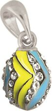 Faberge Egg Pendant / Charm with crystals 1.6 cm #0849-4-09