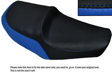 ROYAL BLUE & BLACK CUSTOM FITS YAMAHA XS 650 SE DUAL LEATHER SEAT COVER