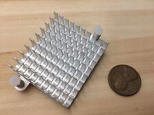 1 Piece - Silver IC LED Aluminum Cooling Fan Heatsink Cooler 55mm hole CPU C34