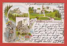 Kynast Riesengebirge Litho Hermsdorf Hirschberg Zittau Vorläufer 1898 Dresden Ak