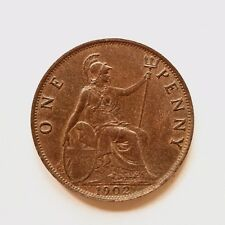 1902 Edward VII Low tide Penny UNC Uncirculated Excellent lustre cover SNo40740