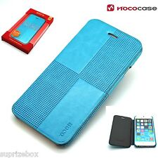 Leather HOCO CRYSTAL FASHION  Wallet Book case for APPLE IPHONE 6 - BLUE