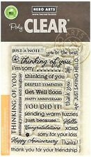 Card Sentiments Poly Clear Acrylic Stamp Set by Hero Arts Stamps CL342 NEW!