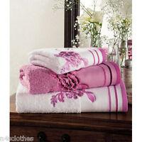 Soft Absorbent 100% Egyptian Luxury Cotton Belvoir Flower Hand Bath Sheet Towels