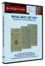 Royal Navy List 1915 WW1 DVD