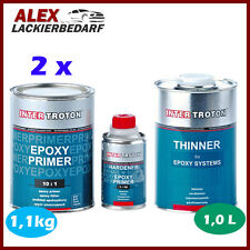 2x Inter Troton 2K Epoxy Primer Epoxid Grundierung 1kg + Härter + EP Verdünnung