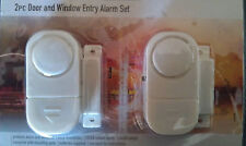 2X EASY TO FIT WIRELESS DOOR/WINDOW/SHED/GARAGE, ALARMS