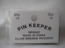 Pin Keepers 12 pins in bag Locking backs with a Biker Allen  Wrench  new