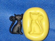 Black Cat Push Mold Candy Food Safe Silicone #764 Cup Cake Chocolate Fondant