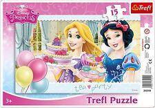 Trefl 15 Piece Baby Kids Girls Infant Princess Tea Party Frame Jigsaw Puzzle NEW