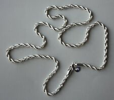 24 Inch Rope Necklace. Stamped.925