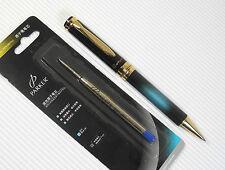 Cotyer V8 high quality Ball point pen Black/w BLUE + PARKER refill BLUE ink