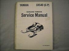 Yamaha OEM Factory Service Manual 81 82 83 84 SR540
