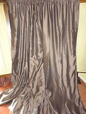 CHRIS MADDEN BROWN MYSTIQUE FAUX SILK (PAIR) INTERLINED DRAPERY PANELS 54X96