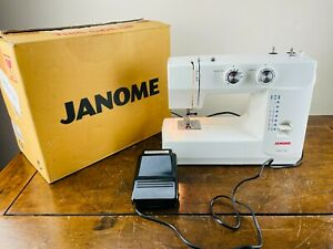 Janome Electric Sewing Machine Model 1560 Portable with Foot Control Pedal & Box