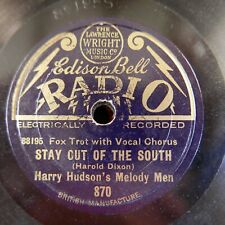 "8"" 78rpm HARRY HUDSON MELODY MEN stay out of the south / twilight dreams"