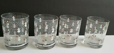 VINTAGE RARE 1970s Georges Briard Double Old Fashioned Snowman Glasses-SET of 4!