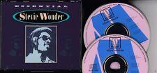 STEVIE WONDER Essential V1 & 2 1987 2-CD FAT BOX 39 TRACKS MOTOWN  PICTURE DISCS