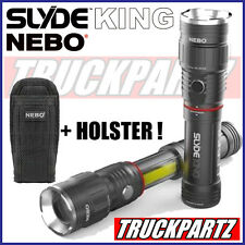 Nebo Slyde King Rechargeable LED Flashlight/Worklight 330 Lumen & Belt Holster !