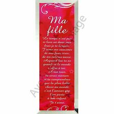 """Miroir message """"Ma Fille"""" à poser/accrocher verre idée cadeau neuf"""