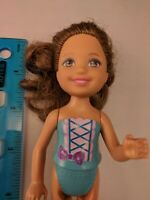 """Barbie Little Sister Chelsea 5.5"""" Doll, Brown Hair, Painted Torso, Nude"""