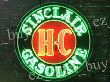 "New Sinclair Gasoline HC Dinosaur Motor Gas Oils Station Neon Sign 24""x24"""