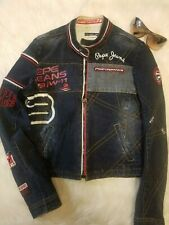 British Vintage Denim Pepe Jeans London England Pride  Jean Jacket Size- Medium
