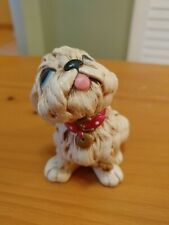 Pendelfin Tammy Dog Stonecraft Figure Vintage Figurine England Hand painted 3.5""