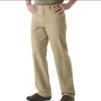 Mens PATAGONIA Ash Tan Regular Fit Duck Pants 34 x 30