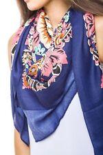 Bufanda Primavera chal Nuevo Verano Estilo Vintage Estampado Floral Print Moda Mujer