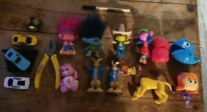 "Toy bundle Trolls 4"" figures care bear lion King scooby doo cars"
