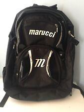 Marucci Baseball / Softball Backpack Travel Bag Gear Black